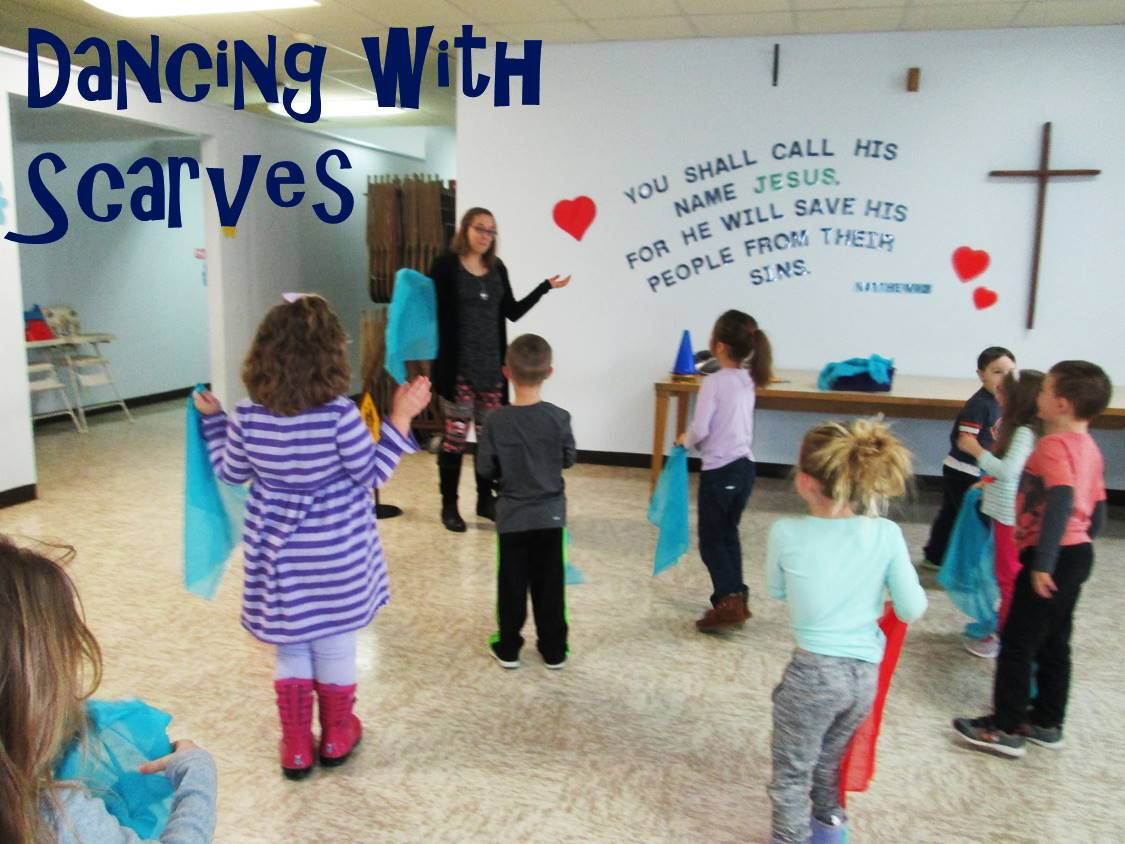 Dancing with scarves